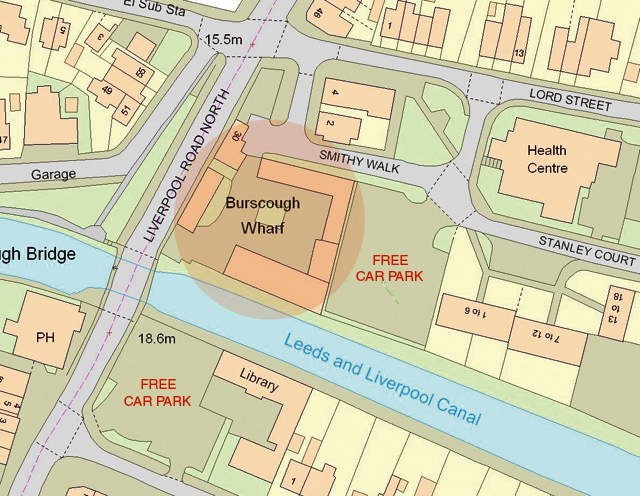 Location Map to get to The Wharf